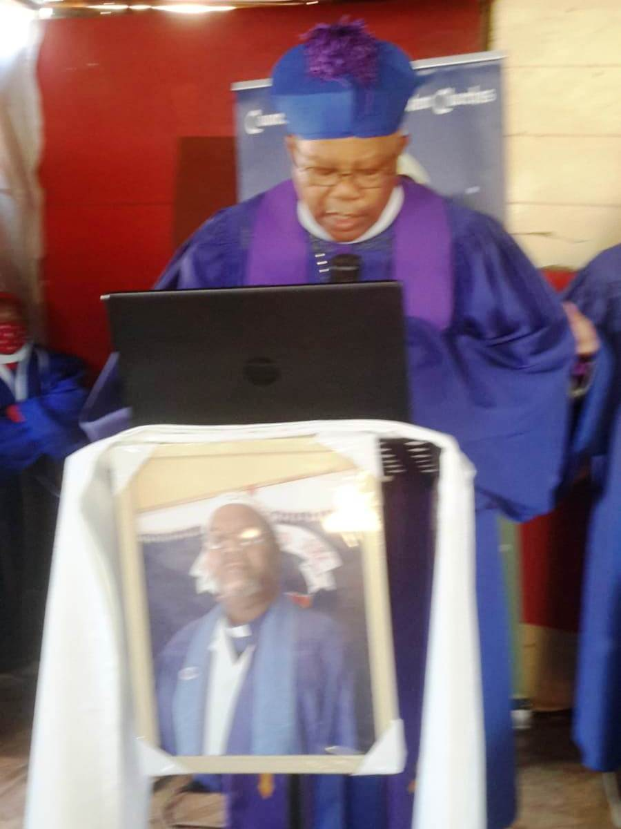 At the burial ceremony of our Archbishop PJ Mofokeng